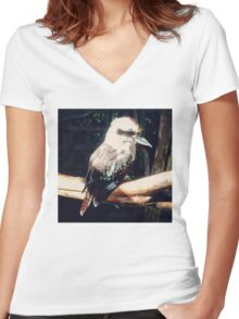 The Laughing Kookaburra Women's Fitted V-Neck T-Shirt