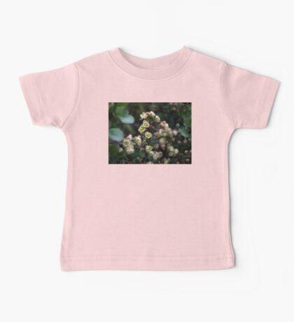 EXQUISITE TINY CREAM & PINK BERBERIS FLOWERS Baby Tee