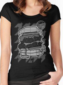 GlamBurger B&W Women's Fitted Scoop T-Shirt