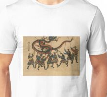 Anonymous - Chinese Dragon Dance - Circa 1875 - Woodcut Unisex T-Shirt