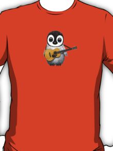 Musical Baby Penguin Playing Guitar Red T-Shirt