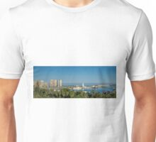 Panorama of Malaga port Unisex T-Shirt