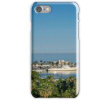Panorama of Malaga port iPhone Case/Skin