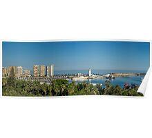 Panorama of Malaga port Poster