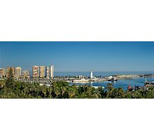 Panorama of Malaga port Photographic Print