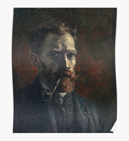 Vincent Van Gogh - Self Portrait With Pipe, 1886 Poster