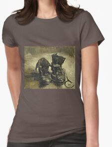 Vincent Van Gogh - Shoes 1887  Womens Fitted T-Shirt