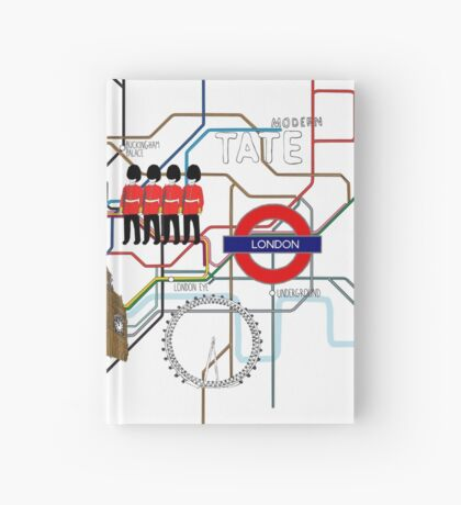 Map of London Hardcover Journal
