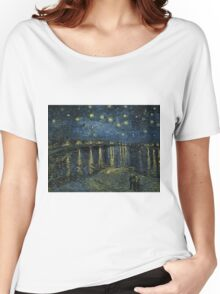 Vincent Van Gogh - Starry Night, 1888  Women's Relaxed Fit T-Shirt