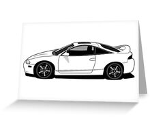 2nd Gen Mitsubishi Eclipse Greeting Card