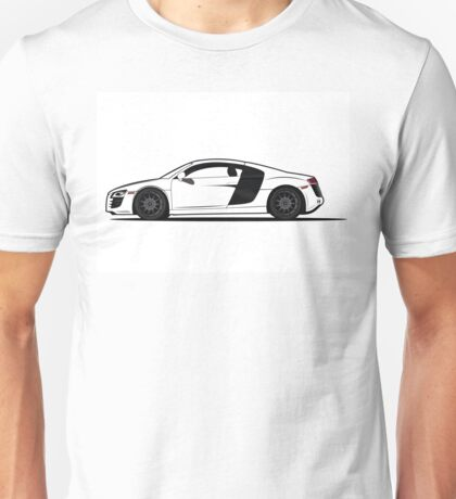 Audi R8 Vector Design Sticker Shirt Poster Unisex T-Shirt