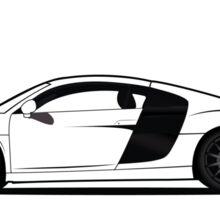 Audi R8 Vector Design Sticker Shirt Poster Sticker