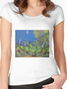 Chimney Pots! Women's Fitted Scoop T-Shirt