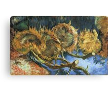 Vincent Van Gogh - Still Life With Four Sunflowers, 1887 Canvas Print