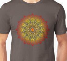 Vivid Fire Watercolor Mandala Unisex T-Shirt