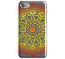 Vivid Fire Watercolor Mandala iPhone Case/Skin