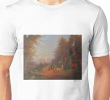 Departing The Inn.  Unisex T-Shirt