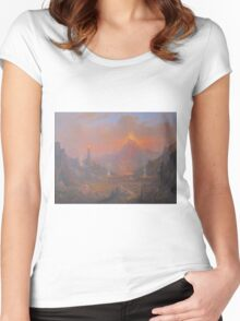 The Lands Of Shadow Women's Fitted Scoop T-Shirt