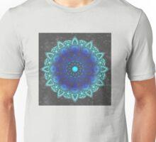 Blues Watercolor Mandala Unisex T-Shirt