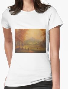 Weathered Hill Womens Fitted T-Shirt