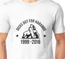 DICKS OUT FOR HARAMBE 2 Unisex T-Shirt