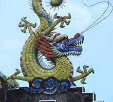 Chinese Dragon Penang Malaysia by Sandra  Sengstock-Miller