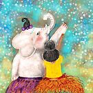 The White Elephant & Moon - By Beatrice Ajayi by Beatrice  Ajayi