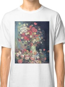 Vincent Van Gogh - Vase With Poppies, Cornflowers, Peonies And Chrysanmums, 1886 Classic T-Shirt