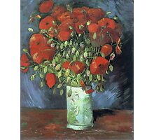 Vincent Van Gogh - Vase With Red Poppies, 1886 Photographic Print