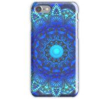 Blues  Watercolor Flower Mandala iPhone Case/Skin