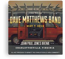 DAVE MATTEWS BAND - JOHN PAUL JONES ARENA - 2016 VIRGINIA Canvas Print