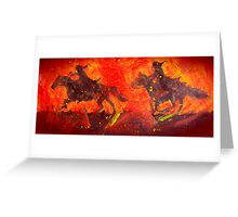 Riders In Black Greeting Card