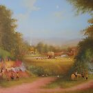 Haymaking the last harvest (a shire view) by Joe Gilronan