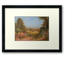 Haymaking the last harvest (a shire view) Framed Print