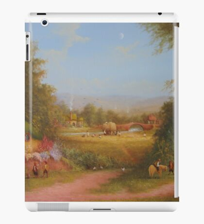 Haymaking the last harvest (a shire view) iPad Case/Skin