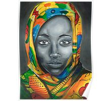 woman with scarf Poster