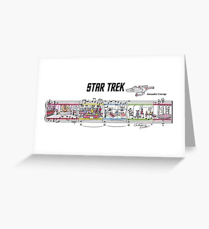 Star Trek TOS Sheet Music Art Greeting Card