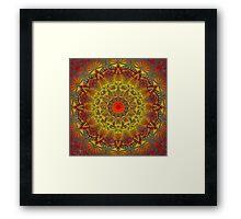 Oriental Watercolor Flower Mandala Framed Print