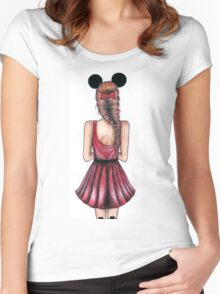 Minnie Mouse Women's Fitted Scoop T-Shirt