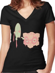 A Lovely Pair Women's Fitted V-Neck T-Shirt