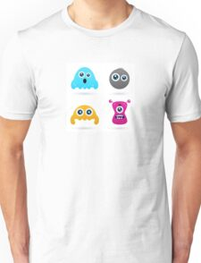 Cute monster or germs characters collection Unisex T-Shirt