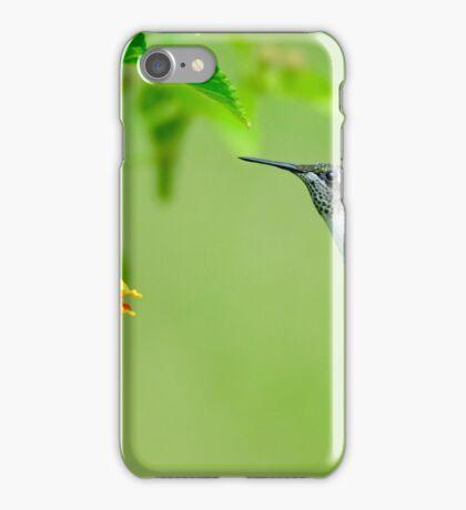Hummingbird Approaching the Flower iPhone Case/Skin