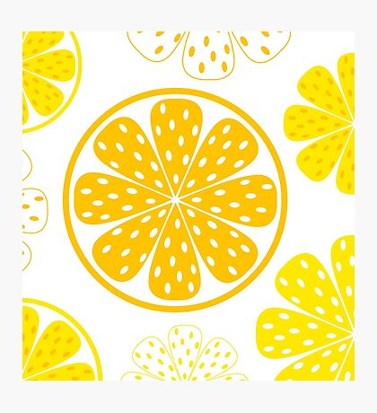Light and fresh yellow lemon pattern or texture Photographic Print