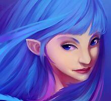 Blue Feather Elf by frilinn