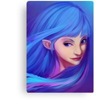 Blue Feather Elf Canvas Print