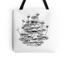 white mushrooms Tote Bag