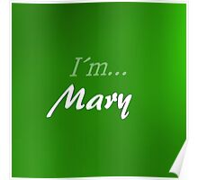 Mary in green Poster