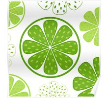 Light and fresh green limette pattern or texture Poster