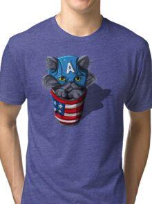 Cat-tin America Tri-blend T-Shirt