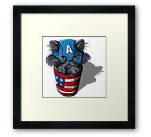 Cat-tin America Framed Print